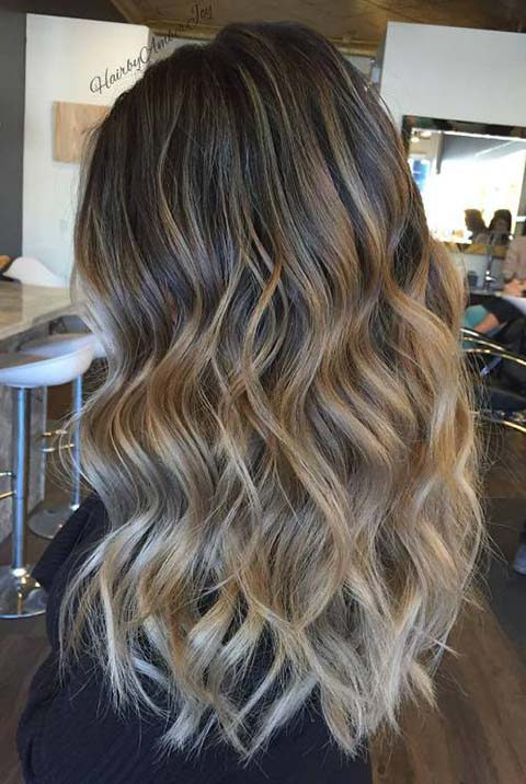 15 Balayage Hair Color Ideas With Blonde Highlights Fashionisers C