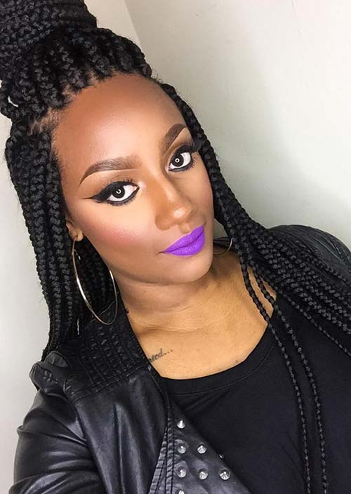Awesome Box Braids Hairstyles: Long Jumbo Box Braids