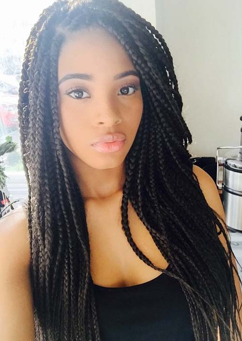 Awesome Box Braids Hairstyles: Long Box Braids
