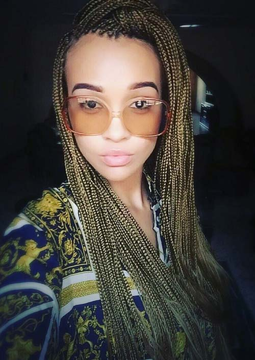 Pleasant 35 Awesome Box Braids Hairstyles You Simply Must Try Fashionisers Hairstyle Inspiration Daily Dogsangcom