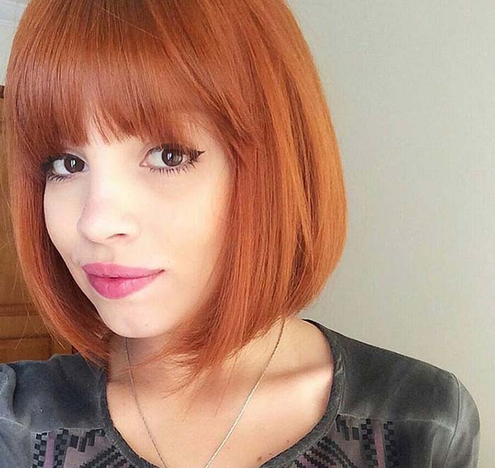 Short Hairstyles For Women Fringed Bob
