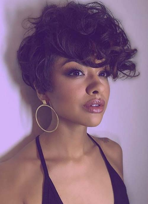 Short Hairstyles for Women: Curly Long Pixie