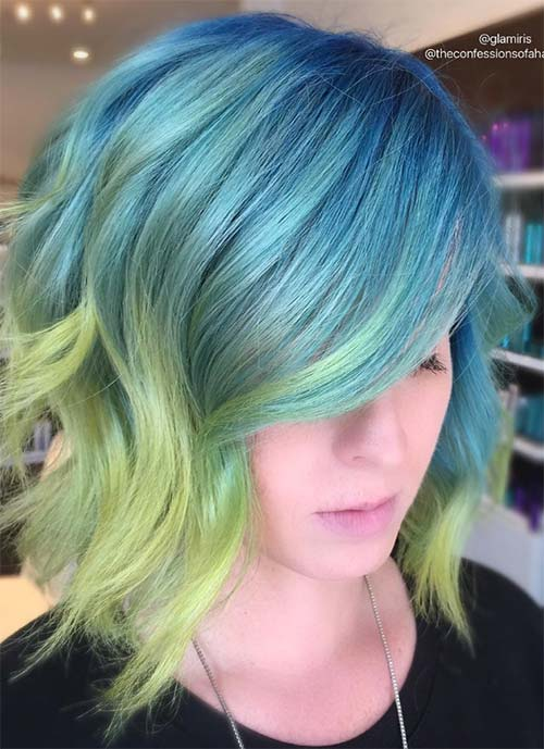 Short Hairstyles for Women: Wavy Mermaid Bob