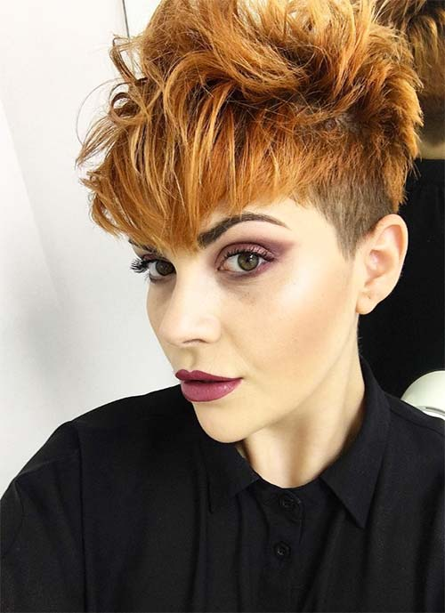 Short Hairstyles for Women: Messy Long Pixie