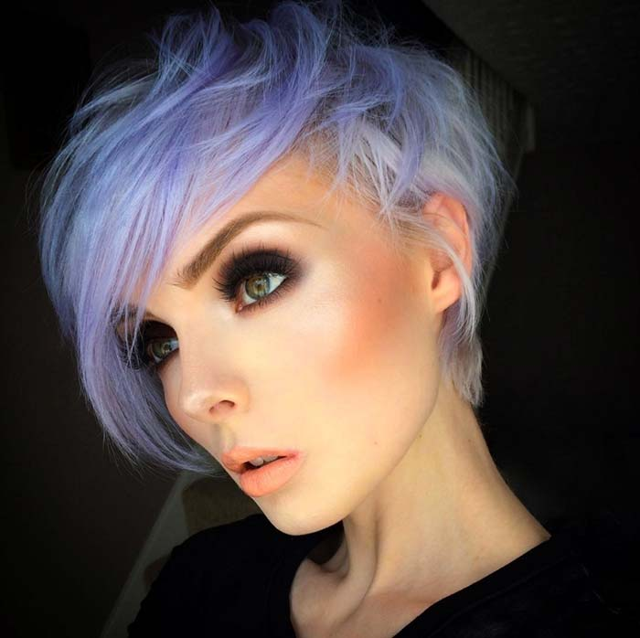 Short Hairstyles for Women: Pastel Pixie Hair