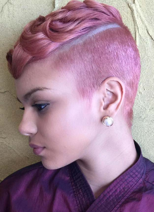 Short Hairstyles for Women: Pastel Undercut Pixie