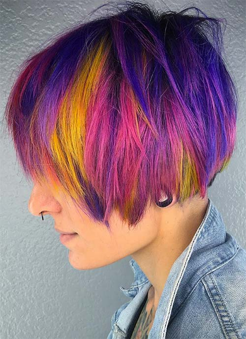 Short Hairstyles for Women: Punk Bowl Cut