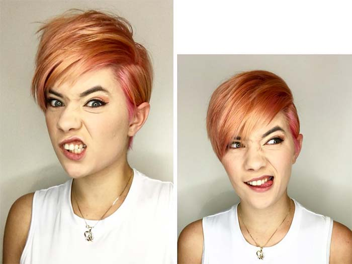 Short Hairstyles for Women Rose Swoop