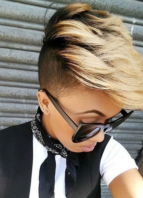 Short Hairstyles for Women: Undercut Swiped Hair