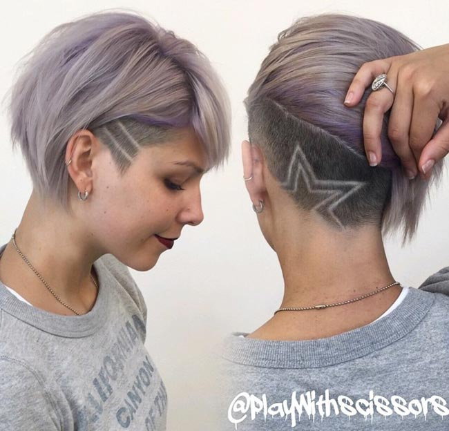 45 undercut hairstyles with hair tattoos for women fashionisers. Black Bedroom Furniture Sets. Home Design Ideas