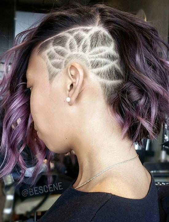 Womenu0027s Short Undercut Hairstyles With Hair Tattoos