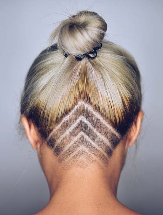 45 Undercut Hairstyles with Hair Tattoos for Women ...
