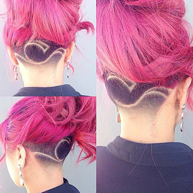 45 Undercut Hairstyles With Hair Tattoos For Women Fashionisers C