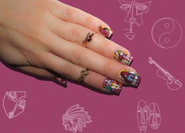 15 Abstract Artistic Nail Art Designs That Will Blow Your Mind
