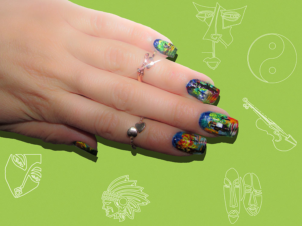 15 Abstract Artistic Nail Art Designs That Will Blow Your Mind ...