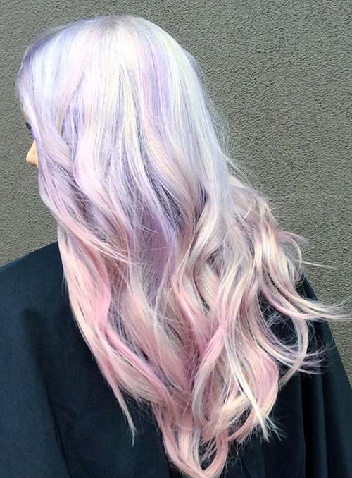 Pastel and Neon Hair Colors in Balayage and Ombre: Pastel Hair