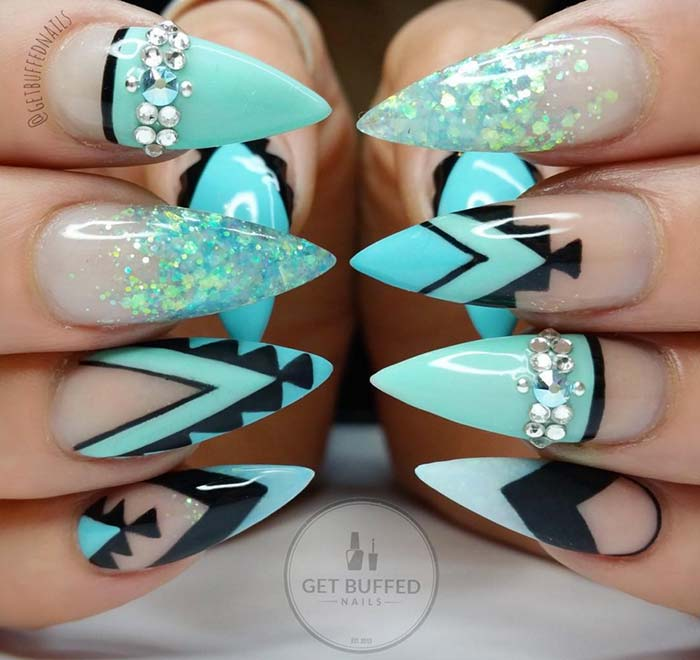 80 stylish acrylic nail design ideas perfect for 2016 fashionisers 80 stylish acrylic nails for any occasion prinsesfo Gallery