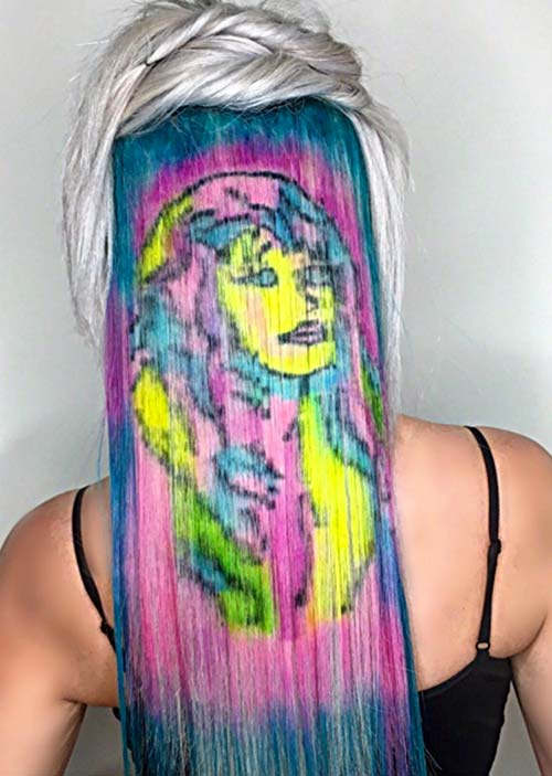 Hair Stencilling Trend: 20 Stenciled Hairstyles