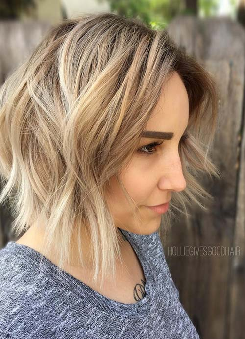 Short Hairstyles For Women With Thin Fine Hair Layered Bob