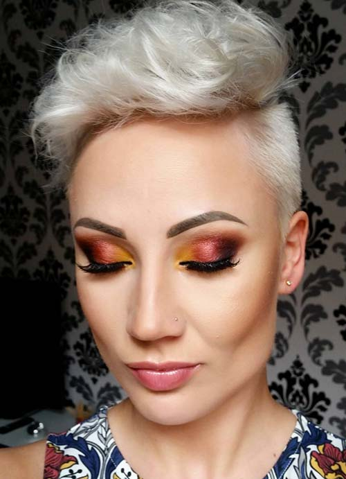 Short Hairstyles for Women with Thin/ Fine Hair: Puffed Up Pixie