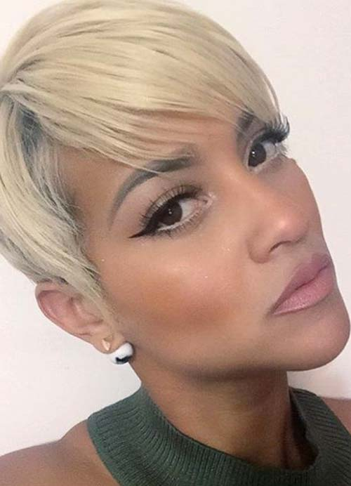 Short Hairstyles for Women with Thin/ Fine Hair: Blonde Pixie
