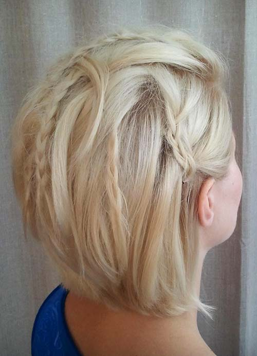 Short Hairstyles For Women With Thin Fine Hair Braided Bob