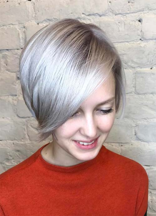 Short Hairstyles For Women With Thin Fine Hair Platinum Bob