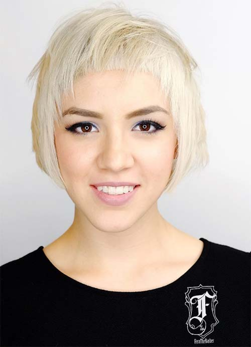 Short Hairstyles For Women With Thin Fine Hair Overswept Bob Baby Doll Bangs