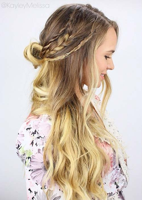 100 Trendy Long Hairstyles for Women: Half Up Half Down