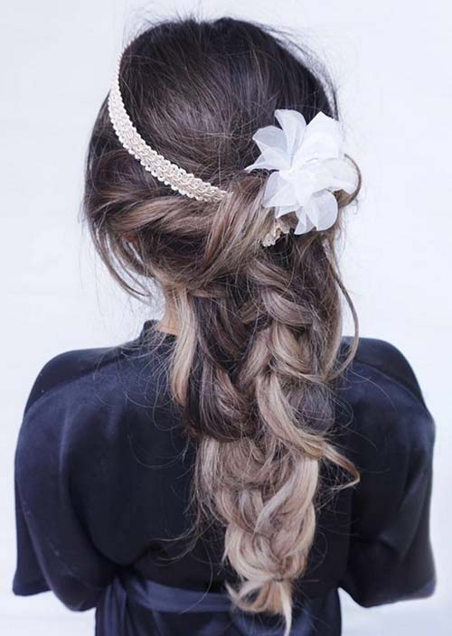100 Trendy Long Hairstyles for Women: Messy Braid
