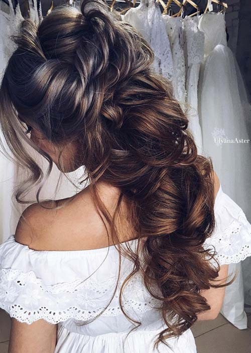 Delightful 100 Trendy Long Hairstyles For Women: Bunched Long Hair