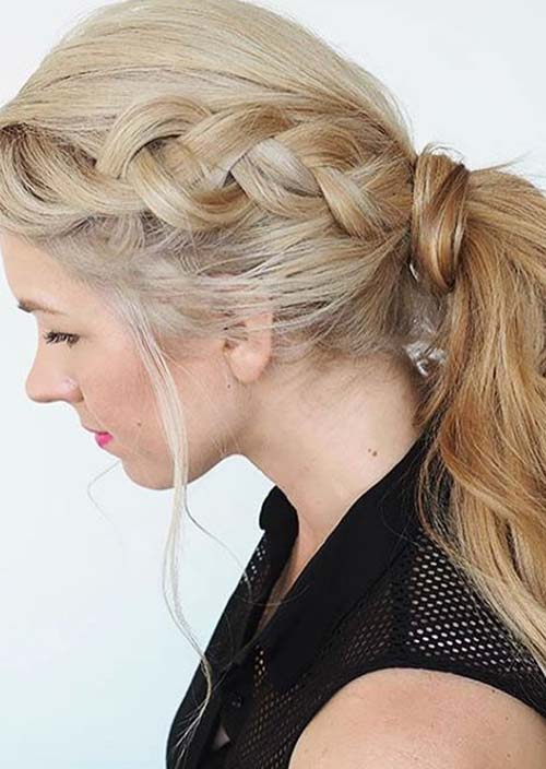 100 Trendy Long Hairstyles for Women: Braided Ponytail