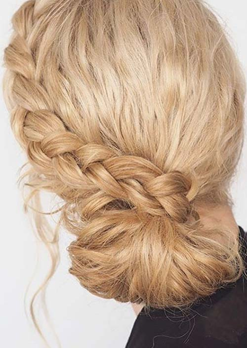 100 Trendy Long Hairstyles for Women: Low Side Braided Bun