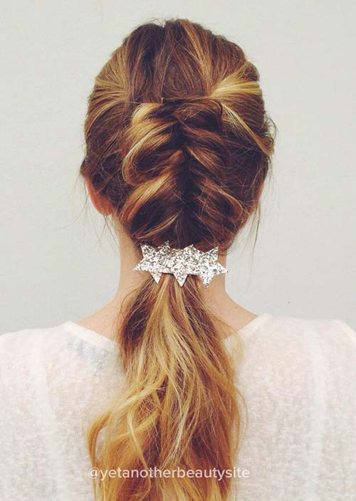 100 Trendy Long Hairstyles for Women: Half Dutch Braid
