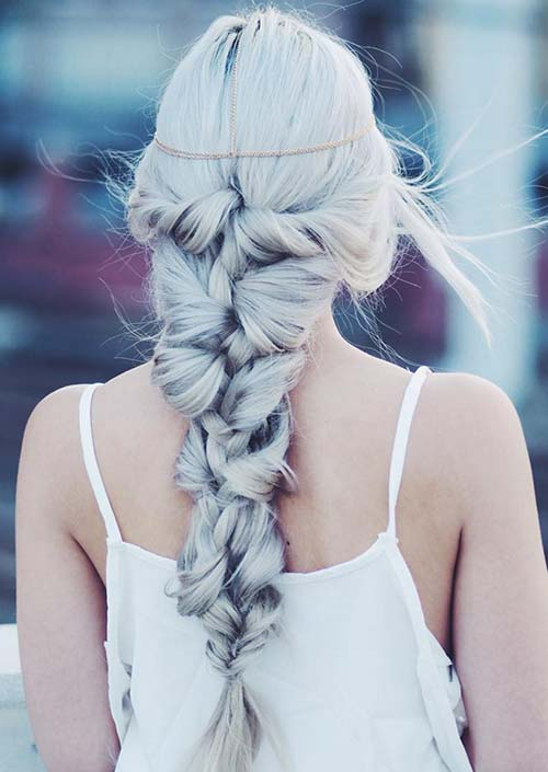 100 Trendy Long Hairstyles for Women: Knotted Mermaid Braid