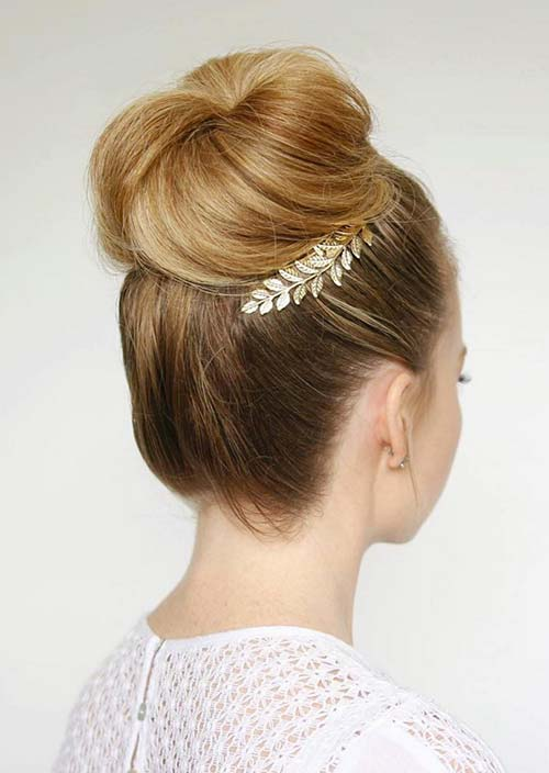 100 Trendy Long Hairstyles for Women: High Bun