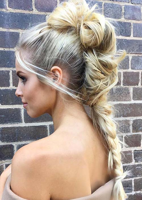 100 Trendy Long Hairstyles for Women: Bumped Up Braid