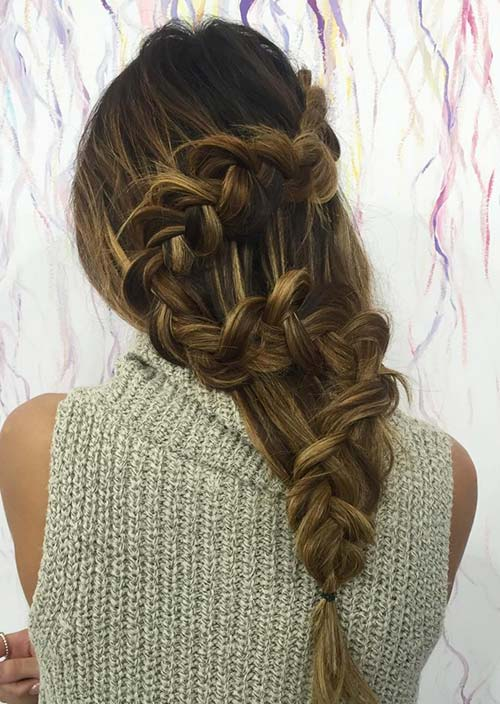 100 Trendy Long Hairstyles for Women: S Shaped Braid