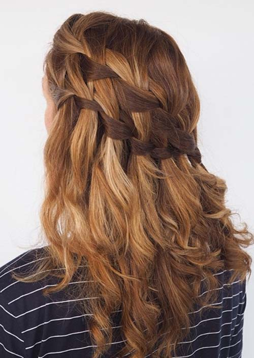 100 Trendy Long Hairstyles for Women: Double Waterfall Braids
