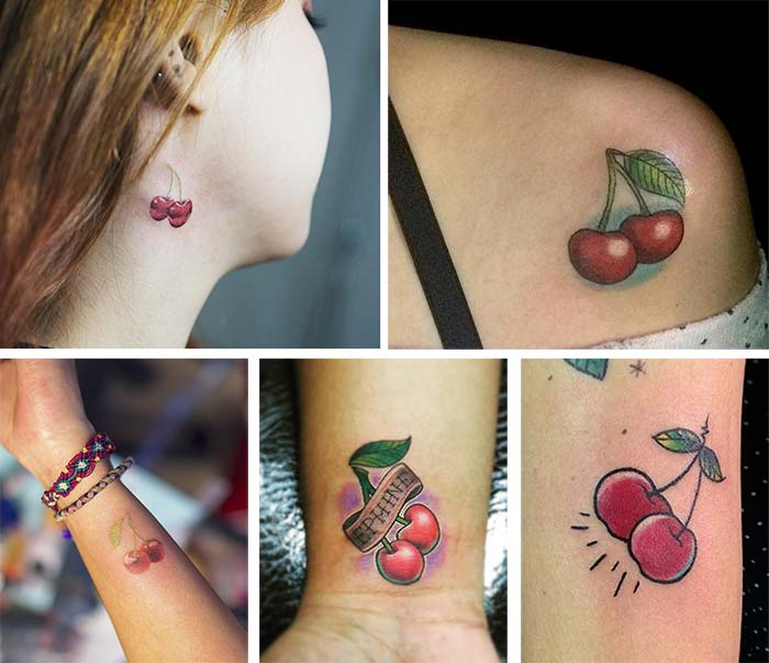 Cute Small Tattoos For Girls With Their Meanings: Tiny Cherry Tattoos