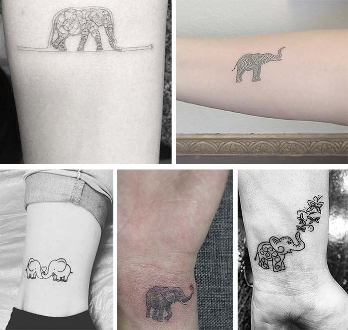 Elephant Tattoos Designs Ideas And Meaning: 50+ Absolutely Cute Small Tattoos For Girls With Their