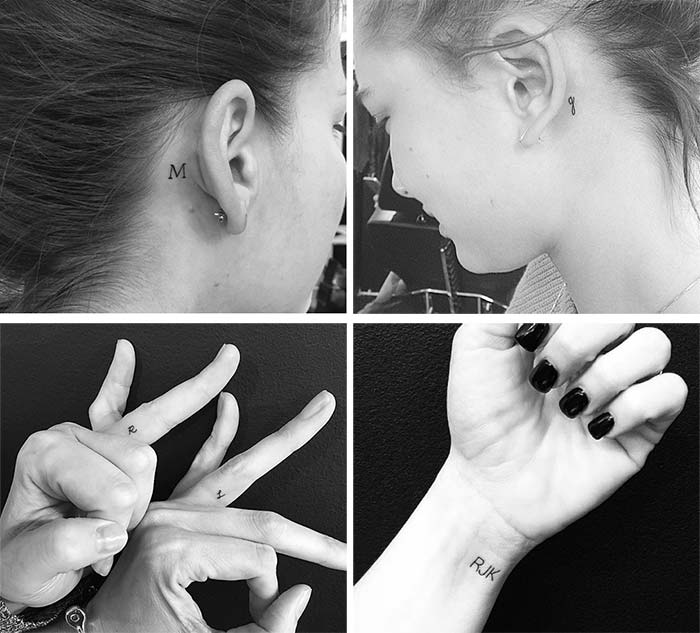 Cute Small Tattoos For Girls With Their Meanings: Tiny Personal Initials Tattoos