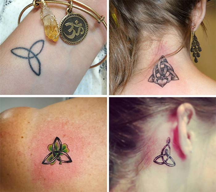 Cute Small Tattoos For Girls With Their Meanings: Tiny Trinity Knot Tattoos