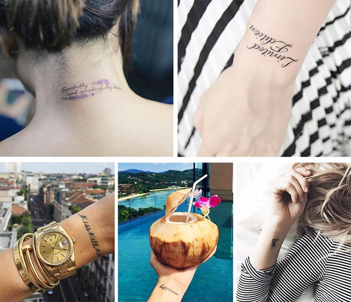 Cute Small Tattoos For Girls With Their Meanings: Tiny Words, Quotes Tattoos