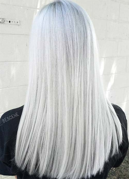 Granny Silver/ Grey Hair Color Ideas: White Gray Hair