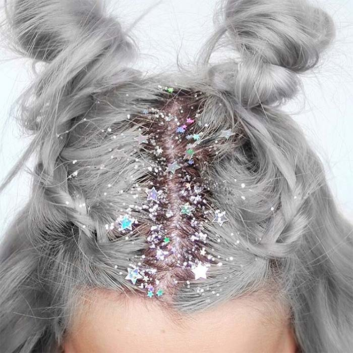 Granny Silver/ Grey Hair Color Ideas: Gray Hair with Silver Roots