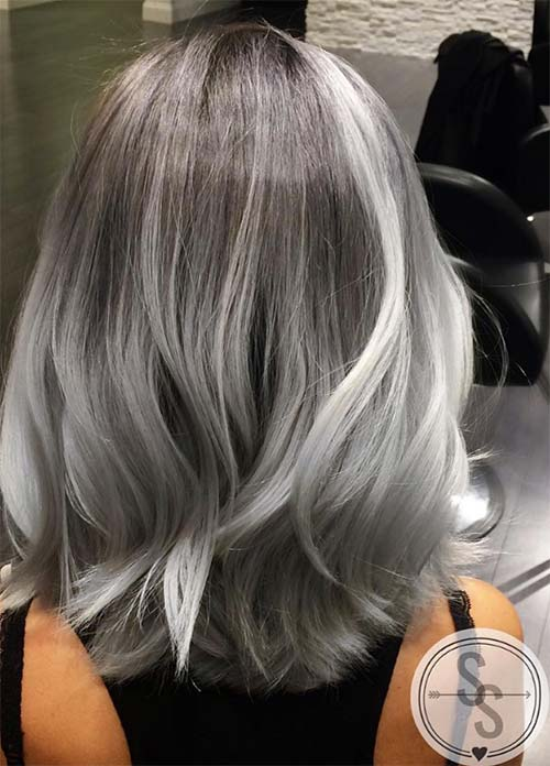 85 silver hair color ideas and tips for dyeing maintaining your granny silver grey hair color ideas balayage grey medium length hair solutioingenieria Gallery
