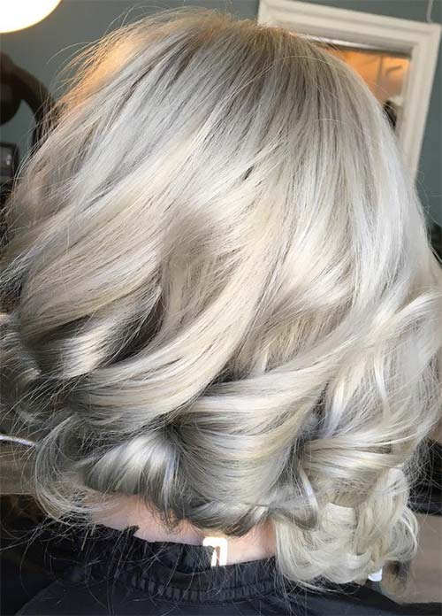 85 silver hair color ideas and tips for dyeing maintaining your granny silver grey hair color ideas gold grey ombre hair solutioingenieria Gallery