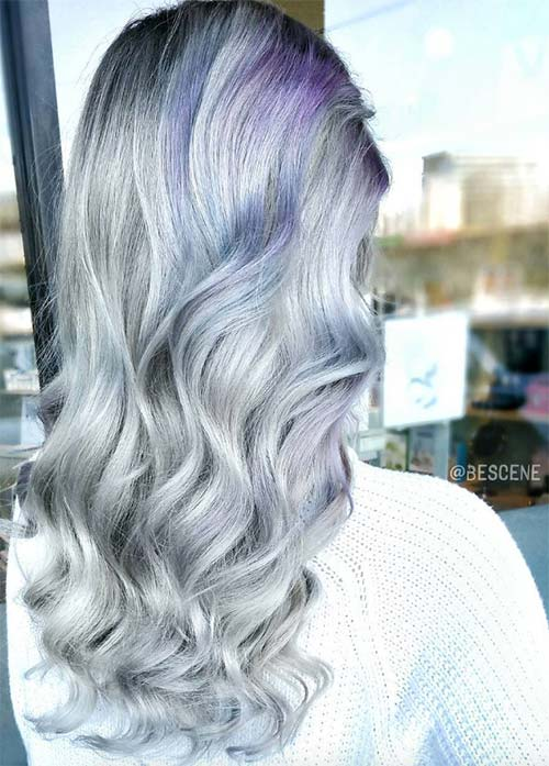 1 Blue Ombre Long Bob