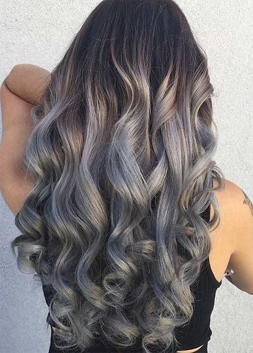 Granny Silver/ Grey Hair Color Ideas: Sterling Silver Curly Hair